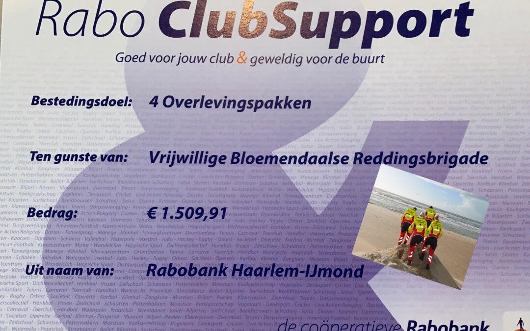 Redders bedanken Rabo ClubSupport