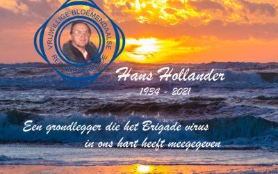 Hans  Hollander overleden op 87 jarige leeftijd